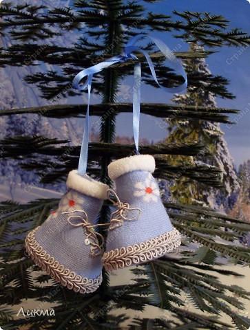 Мастер-класс,  Шитьё, : Сапожки для Снегурочки Носки . Фото 1