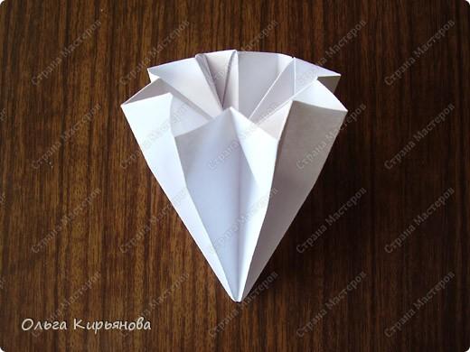 """Мастер-класс, Оригами модульное, : Ангел из модуля кусудамы """"Супершар"""" Бумага Рождество, . Фото 3"""