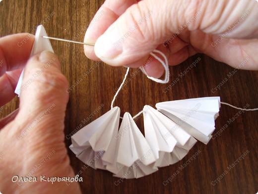 """Мастер-класс, Оригами модульное, : Ангел из модуля кусудамы """"Супершар"""" Бумага Рождество, . Фото 4"""