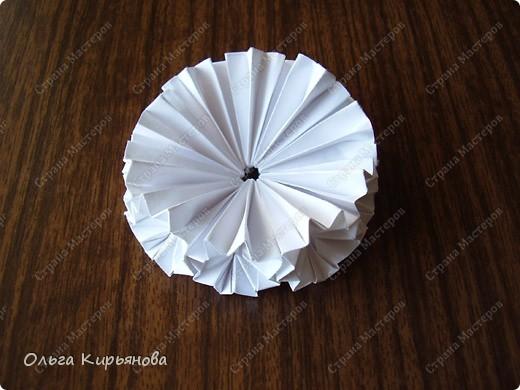 """Мастер-класс, Оригами модульное, : Ангел из модуля кусудамы """"Супершар"""" Бумага Рождество, . Фото 5"""