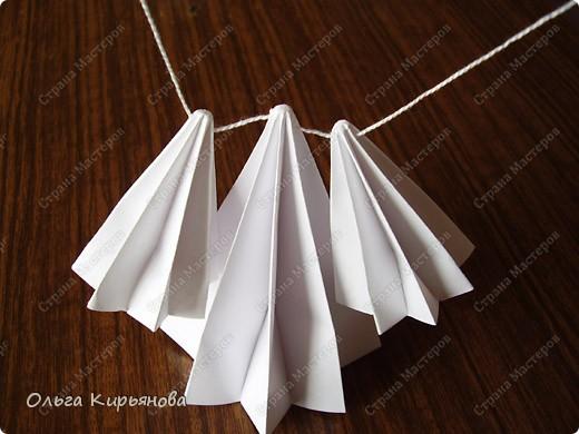 """Мастер-класс, Оригами модульное, : Ангел из модуля кусудамы """"Супершар"""" Бумага Рождество, . Фото 6"""