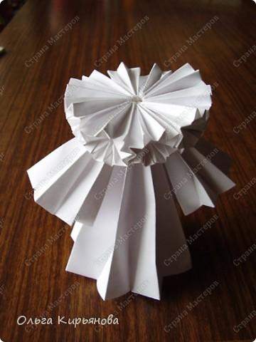 """Мастер-класс, Оригами модульное, : Ангел из модуля кусудамы """"Супершар"""" Бумага Рождество, . Фото 26"""