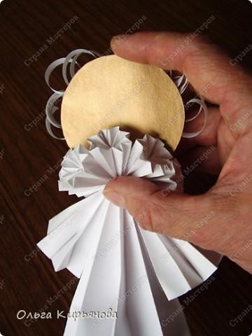 """Мастер-класс, Оригами модульное, : Ангел из модуля кусудамы """"Супершар"""" Бумага Рождество, . Фото 28"""