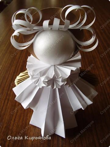 """Мастер-класс, Оригами модульное, : Ангел из модуля кусудамы """"Супершар"""" Бумага Рождество, . Фото 31"""