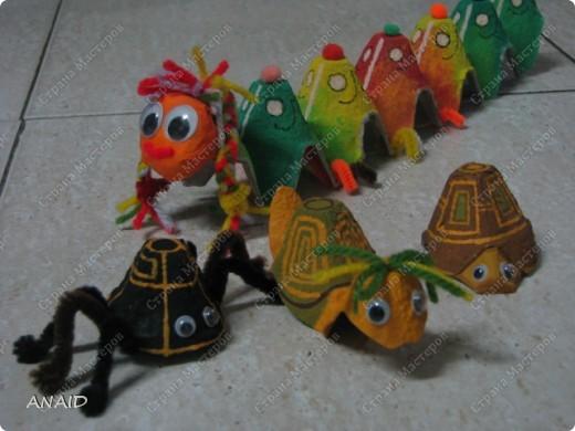 Поделки из ячеек из под яиц своими руками для детей