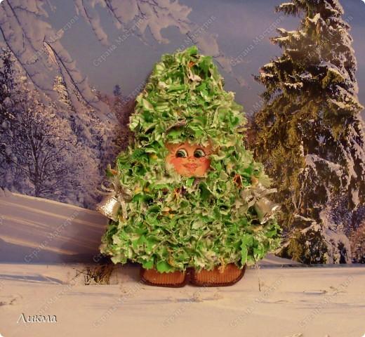 Мастер-класс Торцевание: В лесу родилась елочка Ткань Новый год. Фото 1