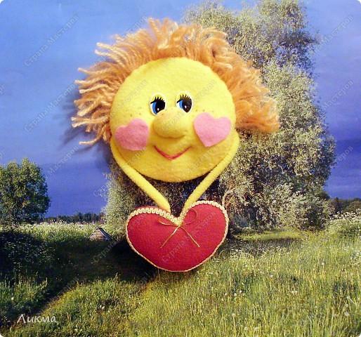 Мастер-класс,  Шитьё, : Солнышко, ты мое..... Материал бросовый Валентинов день, . Фото 1