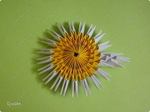 Мастер-класс Оригами модульное: Ромашки - МК Бумага 8 марта, День рождения, День учителя. Фото 6