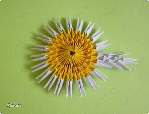 Мастер-класс Оригами модульное: Ромашки - МК Бумага 8 марта, День рождения, День учителя. Фото 8