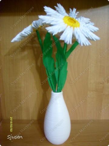 Мастер-класс Оригами модульное: Ромашки - МК Бумага 8 марта, День рождения, День учителя. Фото 13