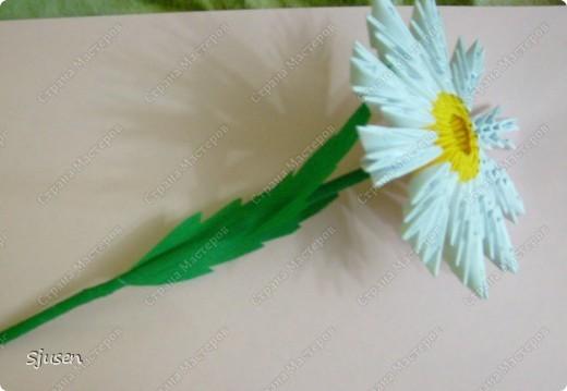 Оригами ромашка как из модулей сделать