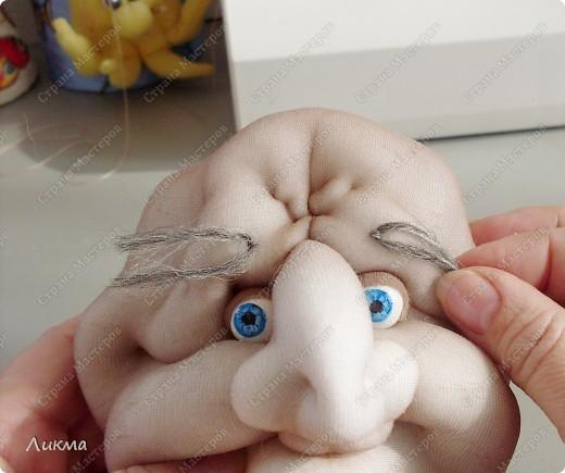 Мастер-класс,  Шитьё, : Кукла-домашка. Часть первая. Личико.... Ткань . Фото 54