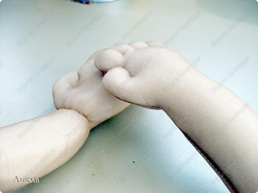 Мастер-класс,  Шитьё, : Кукла-домашка. Часть третья. Ручки..... Ткань . Фото 14
