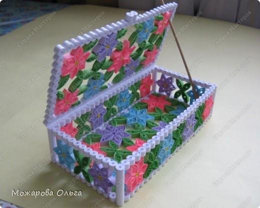 Поделка, изделие Квиллинг: шкатулочка №3 Бумага. Фото 1