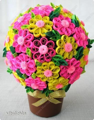 Поделка, изделие, Квиллинг, : Цветочное настроение Полосы бумажные . Фото 7