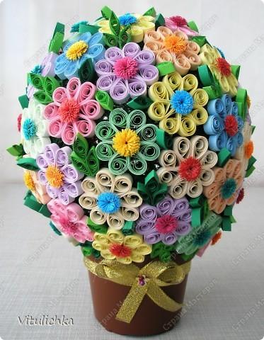 Поделка, изделие, Квиллинг, : Цветочное настроение Полосы бумажные . Фото 9