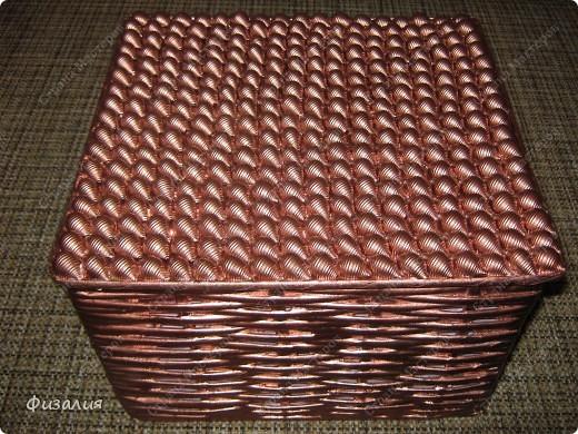 Украшение интерьера Плетение: Корзина для рукоделия- 5 Бумага<br />газетная, Коробки, Продукты пищевые Отдых. Фото 2