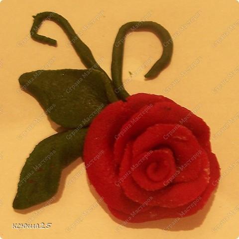Мастер-класс Лепка: МК розы из соленого теста Тесто соленое Дебют. Фото 27