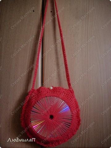 Декор предметов Вязание: Сумочка - сувенир и другие вещички из дисков