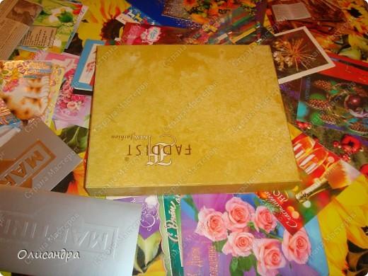 Очень хочу делать мозайку...Решила поучиться на обувной коробке, т.е. на том,что не жалко испортить.... Фото 2