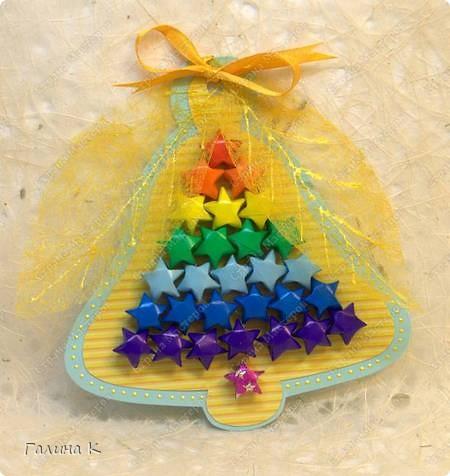 Мастер-класс, Открытка Оригами: Звёздочки счастья.МК Бумага Начало учебного года. Фото 18