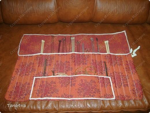 Упаковка Шитьё: Чехол для спиц Ткань.  Фото 1.