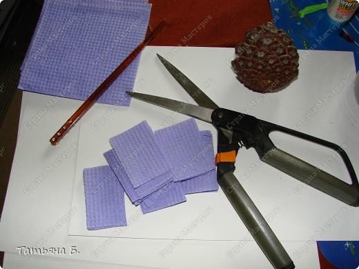 Мастер-класс Торцевание: МК. Гиацинт. Торцевание на шишках. Экскурсия. Фото 2
