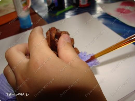 Мастер-класс Торцевание: МК. Гиацинт. Торцевание на шишках. Экскурсия. Фото 5