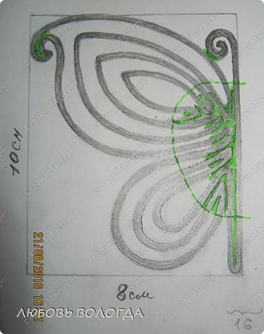 Плетение: Обещанная схема бабочки из газет на проволоке Бумага газетная, Проволока. Фото 2