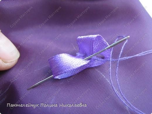 Мастер-класс Вышивка: Сирень.  Ленты. Фото 8