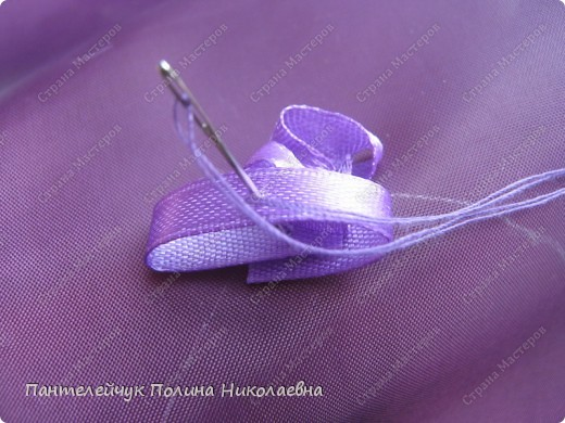 Мастер-класс Вышивка: Сирень.  Ленты. Фото 10