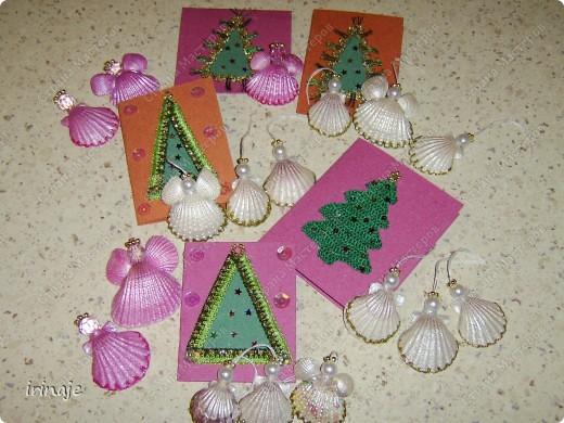 Мастер-класс: Ангелочки из ракушек Бусинки, Ракушки Рождество. Фото 12