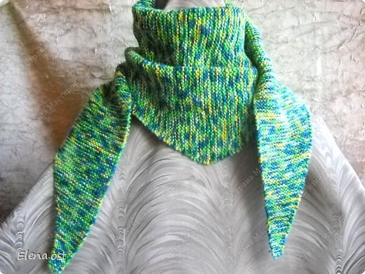 Мастер-класс Вязание, Вязание спицами: Бактус - треугольный шарф-косынка МК Пряжа День рождения. Фото 11