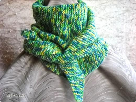 Мастер-класс Вязание, Вязание спицами: Бактус - треугольный шарф-косынка МК Пряжа День рождения. Фото 12