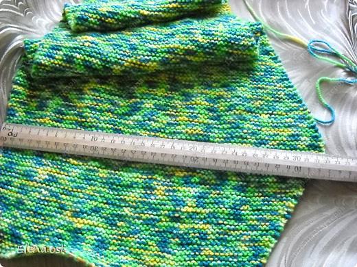 Мастер-класс Вязание, Вязание спицами: Бактус - треугольный шарф-косынка МК Пряжа День рождения. Фото 8
