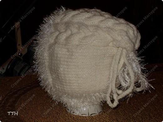 связать мужскую двойную шапку спицами.