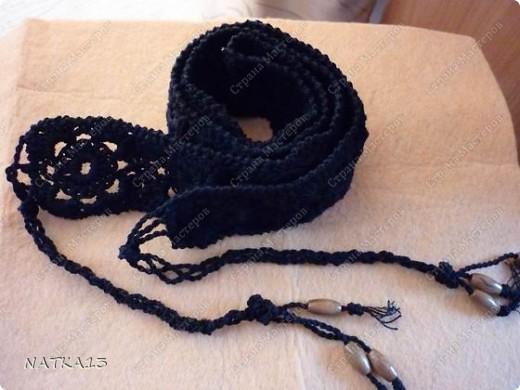 Гардероб Вязание крючком: пояс Нитки Отдых. Фото 1
