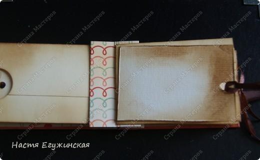Скрапбукинг : МК: Мини альбом с кармашками . Бумага . Фото 12