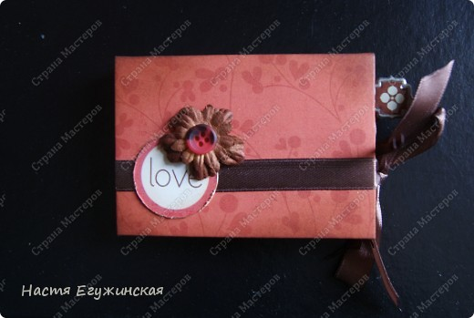 Скрапбукинг: МК: Мини  альбом  с  кармашками . Бумага. Фото 1
