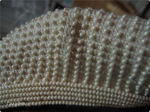 Гардероб, Мастер-класс,  Вязание крючком, : Вяжем вместе : Берет с бисером Бисер, Пряжа . Фото 11