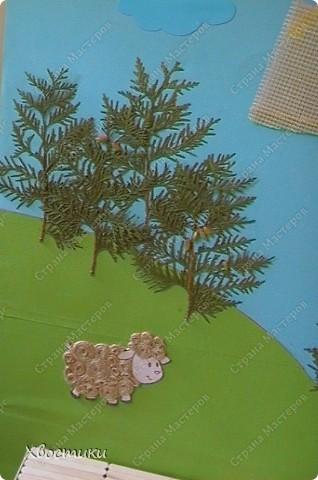 Картина, рисунок, панно Аппликация, Моделирование: Физкульт-привет!!! Бутылки пластиковые, Канва, Картон, Картон гофрированный, Листья, Материал бросовый, Материал природный, Поролон, Проволока, Шпагат. Фото 8