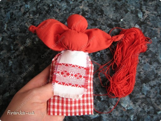 Куклы, Мастер-класс, Оберег: Пасхальная и Вербная куколки Ткань Пасха. Фото 21
