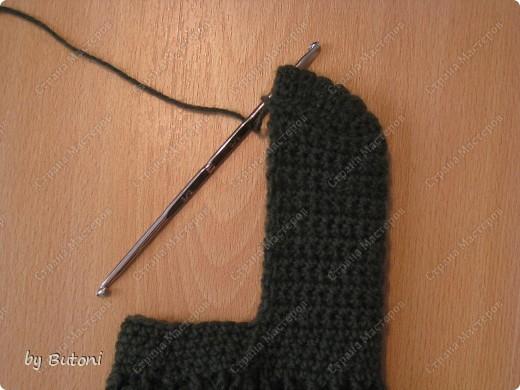 Гардероб, Мастер-класс,  Вязание крючком, : Теплые вязанные носочки! Пряжа . Фото 8