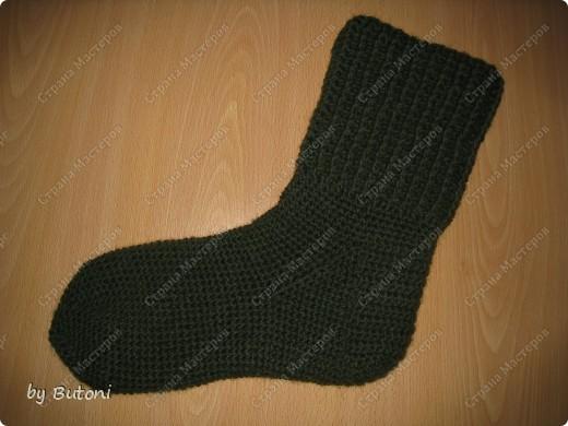 Гардероб, Мастер-класс,  Вязание крючком, : Теплые вязанные носочки! Пряжа . Фото 11