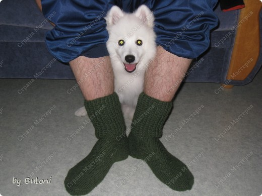 Гардероб, Мастер-класс,  Вязание крючком, : Теплые вязанные носочки! Пряжа . Фото 12