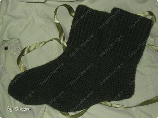 Гардероб, Мастер-класс,  Вязание крючком, : Теплые вязанные носочки! Пряжа . Фото 1