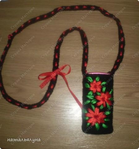 Мастер-класс,  Вязание крючком, : Сумочка для мобильного телефона Пряжа