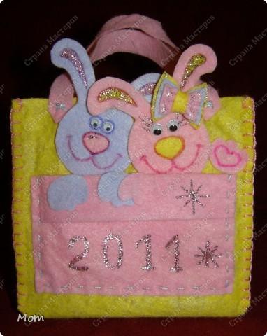 Мастер-класс,  Шитьё, : Подарочные сумочки эконом-класса Салфетки Новый год, . Фото 10