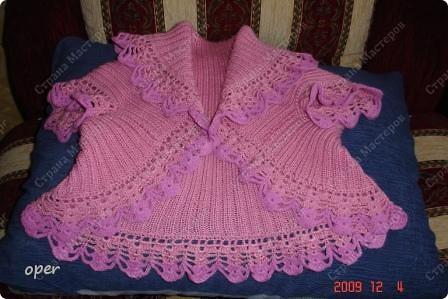 Гардероб Вязание крючком, Вязание спицами: Болеро для девочки Пряжа