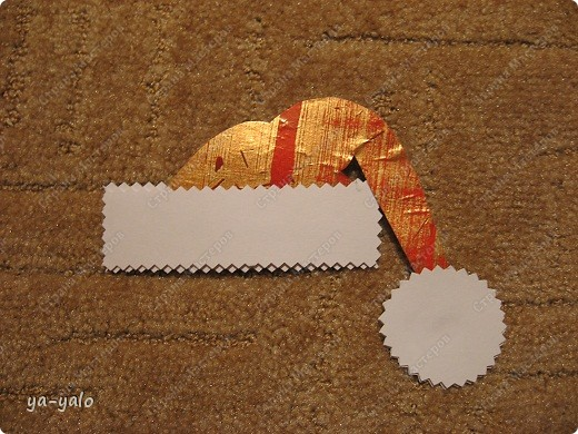 """Мастер-класс, Открытка Аппликация: ОТКРЫТКА """"КОТ В МЕШКЕ"""" + МК Бумага, Клей, Ленты Новый год. Фото 23"""
